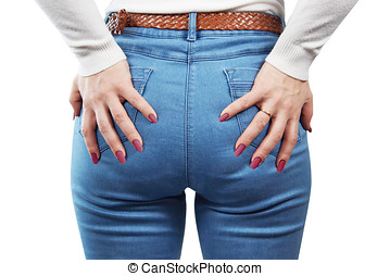 Female Ass In Blue Jeans
