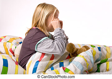 The sleepy eyes - Sleeping young cute child in a colorful...