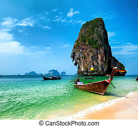 Thailand beach and tropical island