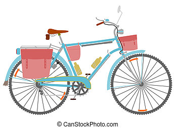 Touring bike - Classic touring bike with derailleur and...