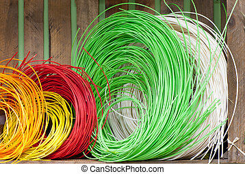 multicoloured string