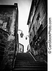 Bielsko-Biala - Schodowa Street-old center of city...