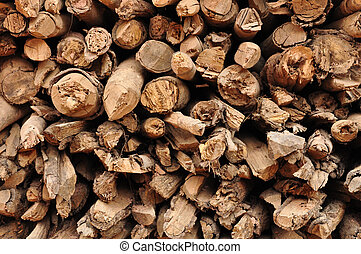 wood logs in a lumber Background