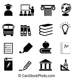 Education and school icons - Education and schools icon set