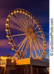 Brighton - Giant Brighton Wheel at sunrise.,England.