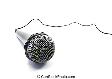 Microphone isolation - View of an usual microphone isolated...