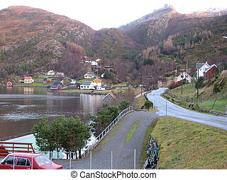 Hamlet - Small hamlet in Nordfjord Picture from Rugsund in...