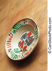 old traditional plate - very old traditional painted plate...