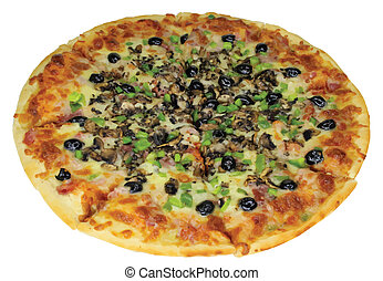 Quattro Stragioni Pizza Complete Isolated VB - Picture of...