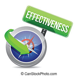 effectiveness Glossy Compass illustration design over white