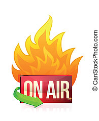 on air burning signal