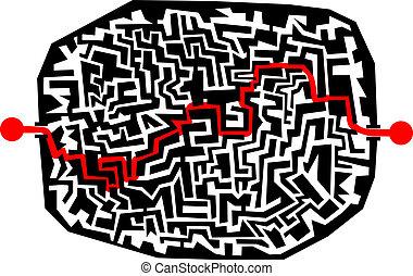 Maze sticker - Creative design of maze sticker
