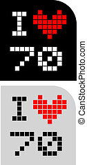 I love 70 - Creative design of I love 70