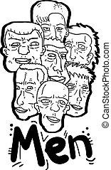 Men faces