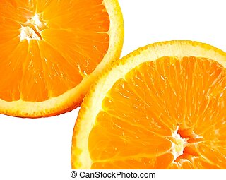 medical, closeup of two half oranges - medical, close-up of...