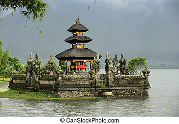 Ulun Danu Bedungul - Bali water temple at bratan lake ulun...