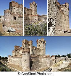 Castle La Mota, Spain - Set of pictures of famous Castle of...