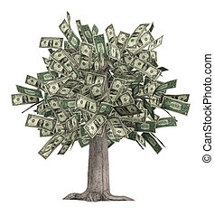 Money Tree - This is a high-resolution 3d render of a rooted...