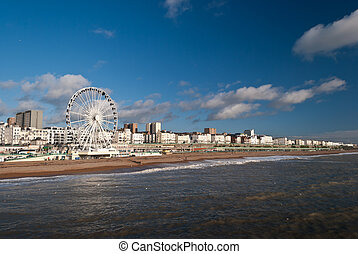Brighton - British town of Brighton seen from the pier.