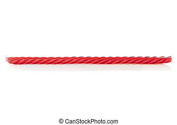 Bright Red Licorice Candy shaped like a twisted rope