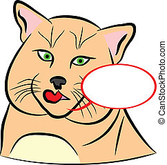 Domestic Cat - An a vector illustration of Domestic Cat