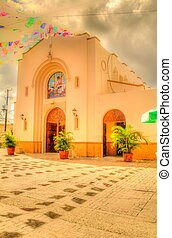 An Old Mexican Church - An old Mexican Catholic church with...