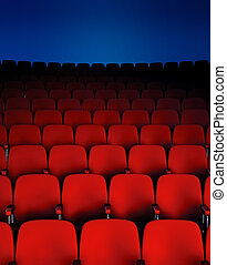 Theater Chairs - A Dark theater hall showing the seats