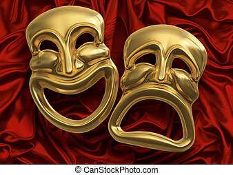 Comedy Tragedy Masks - Classic comedy-tragedy theater masks...