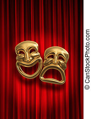Comedy Tragedy - Classical comedy-tragedy theater masks...