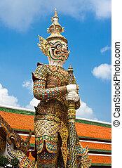 Thai style statue of Guard at Grand Royal Palace