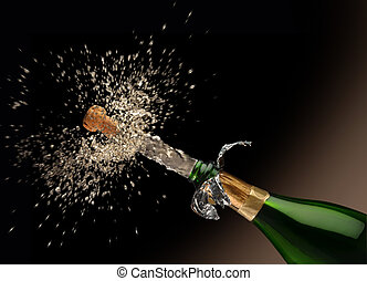 Un-Corked - A Quark poping off of the champaign bottle with...