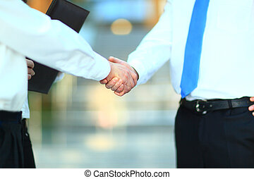 handshake isolated on business back