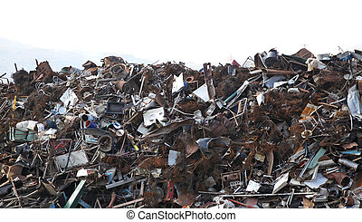 Metal scrap - Big bunch of metal at scrap yard