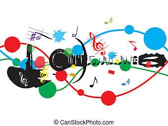abstract art colorful music vector background