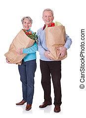 Senior Couple Shopping Vegetables