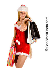 Beautiful Christmas faerie with xmas presents - Studio...