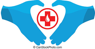 Blood Donation Emblem Template