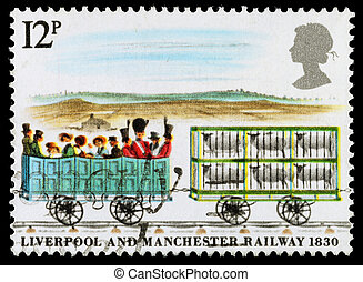 Britain Steam Train Postage Stamp - UNITED KINGDOM - CIRCA...