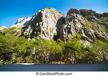 Mountains Paklenica National Park - Canyon in Paklenica...