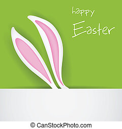 Easter Bunny Banner - illustration of banner with Easter...