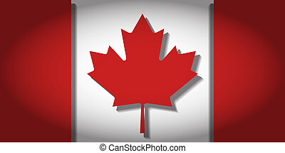The Maple Leaf, the National Flag of Canada, with 3D depth...