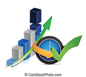 Business finance timing concept illustration design over...
