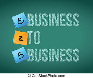 business to business B2B board illustration design over...