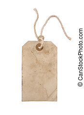 Blank paper tag - Blank aged paper hang tag with a string
