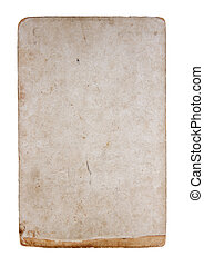 Aged paper - A blank aged paper isolated on white
