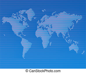 striped line world map vector template illustration