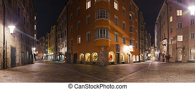Old town in Innsbruck Austria - architecture panorama