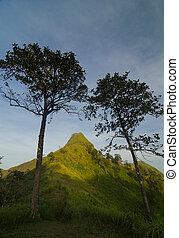 Top view of Mountain, Khao chang puak, Kanchanaburi,...