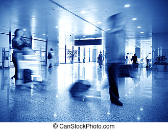 Airline passengers at the airport
