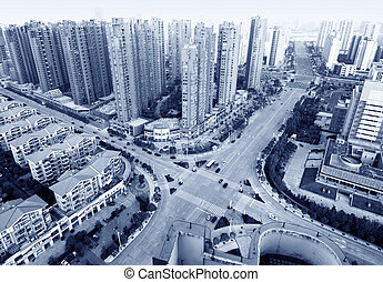 Aerial view of city - Aerial view of Shanghai city